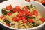 Veggie Rotini with Creamy Vegan Pesto