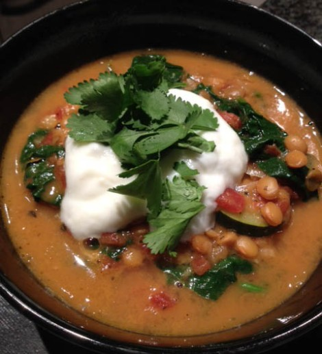 Lentil Stew with Ginger Yogurt – MY WAY